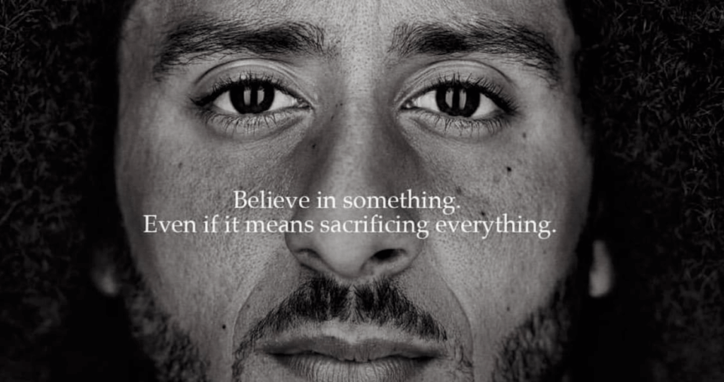 Nike campaign with Colin Kaepernick