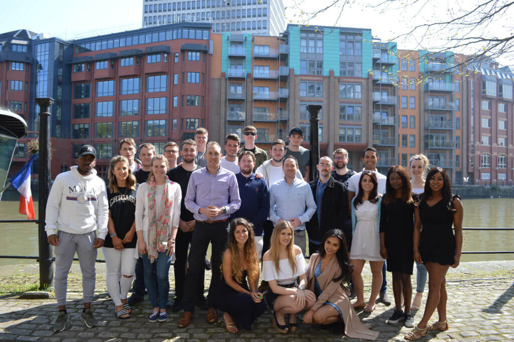 ISL Recruitment Team shot outside on the harbourside.