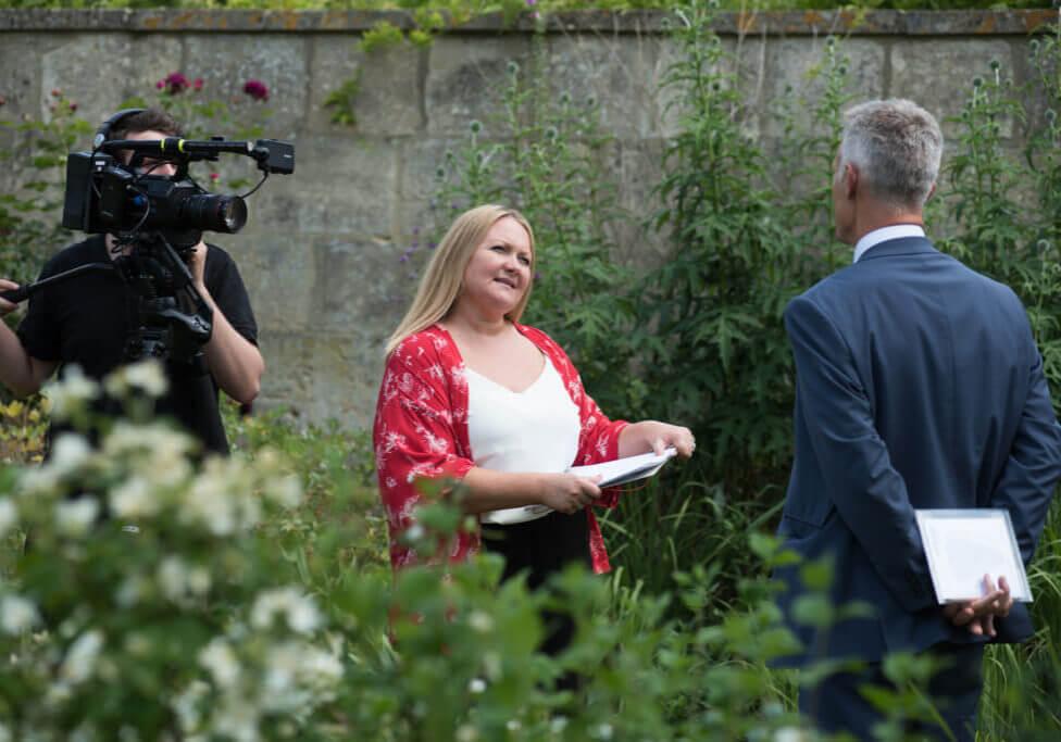 Sarah interviewing